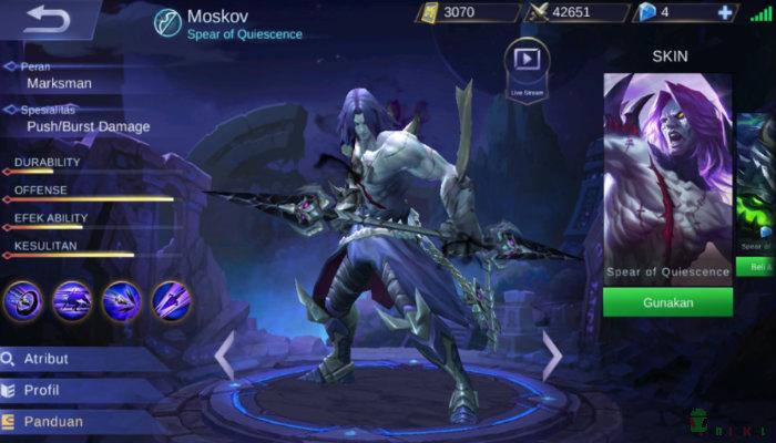 Kemampuan Hero Moskov Dan Guide  Top Player Mobile Legends Bang Bang
