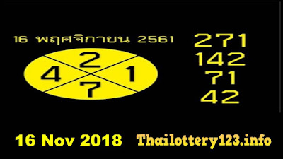 Thai lottery 3up VIP sure number tips paper 16 November 2018