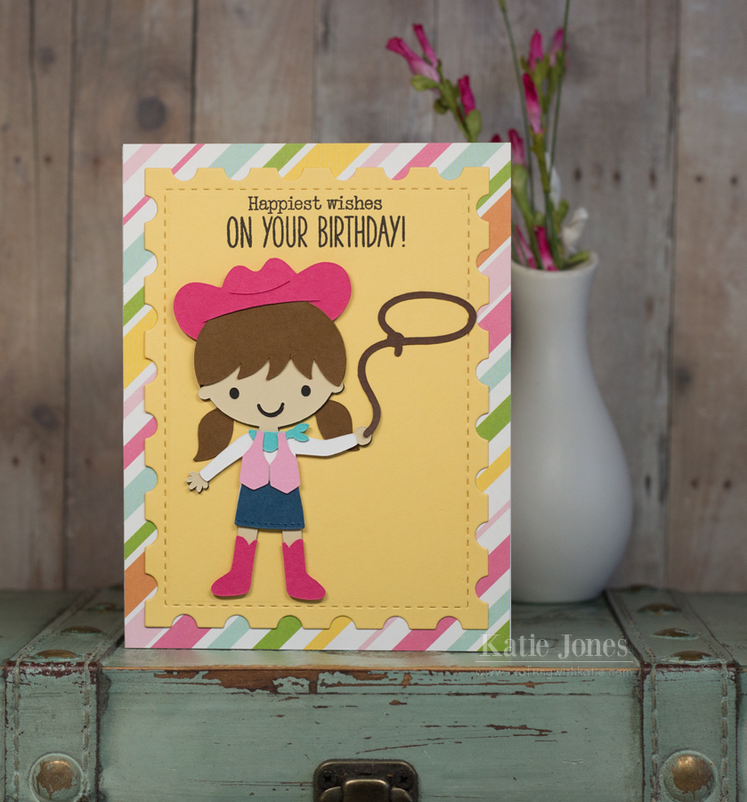 Crafting With Katie Cowgirl Birthday Card