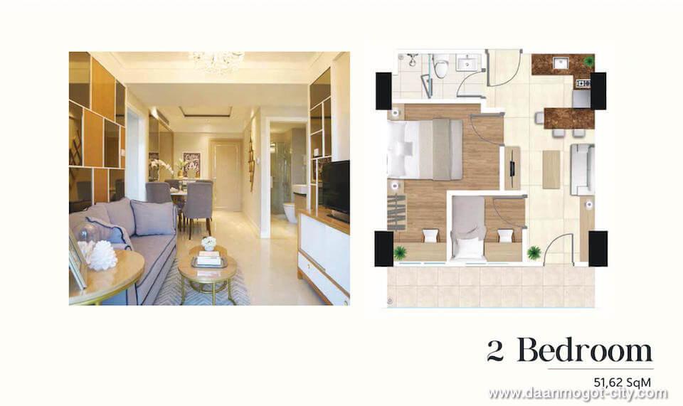 Apartemen DAMOCI Tipe 2 BR