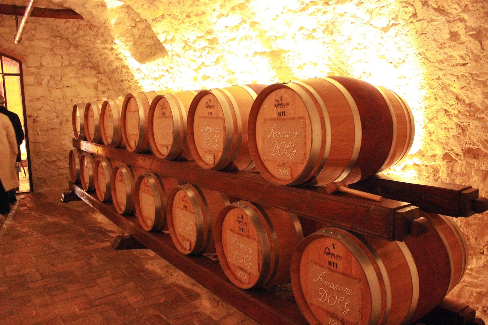Wine storage of Amarone at Tenute Ugolini