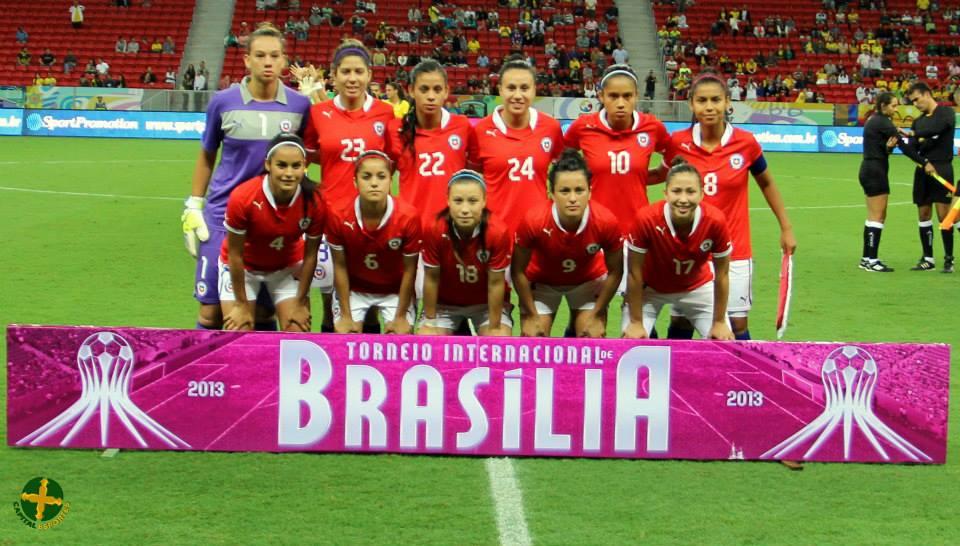 Formación de selección femenina de Chile ante Brasil, Torneio Internacional de Brasília 2013, 12 de diciembre