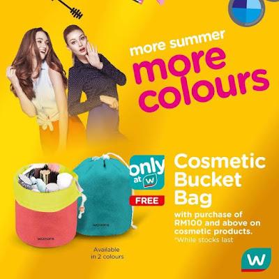 FREE Watsons Cosmetic Bucket Bag