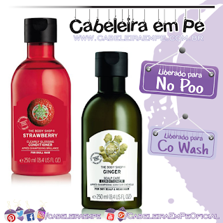Condicionadores Gengibre e Morango- The Body Shop (No Poo e Co Wash)