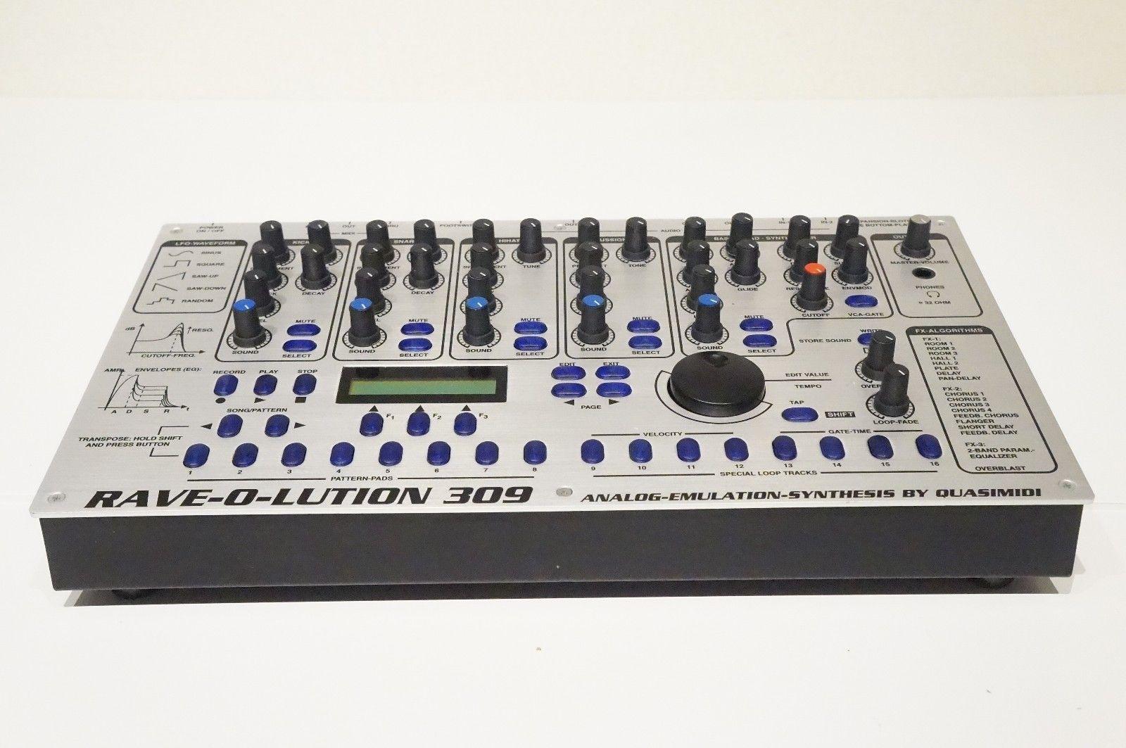 matrixsynth quasimidi rave o lution 309 synthesizer drum machine sn 43233. Black Bedroom Furniture Sets. Home Design Ideas