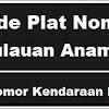 Kode Plat Nomor Kendaraan Kepulauan Anambas