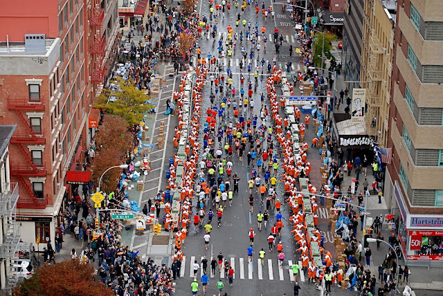 NYC Marathon map route pictures