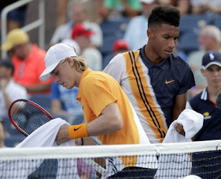 Shapovalov wins when foe retires at us open