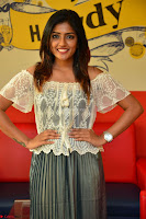 Eesha in a cute deep neck top and Skirt at at Big FM 022.JPG