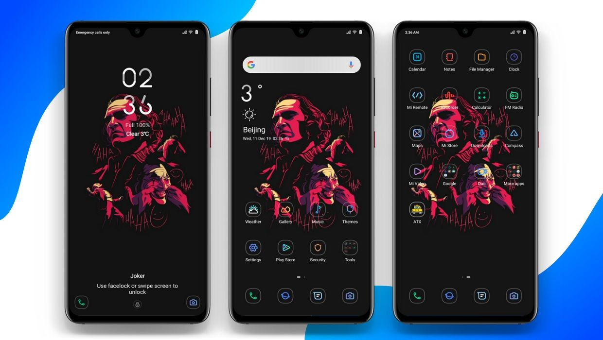 Joker v11 MIUI Theme with Official Theme Store Link