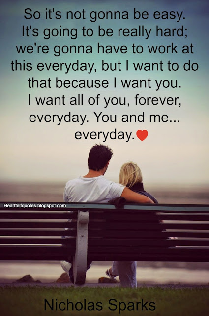 Nicholas Sparks Romantic Love Quotes Heartfelt Love And Life Quotes
