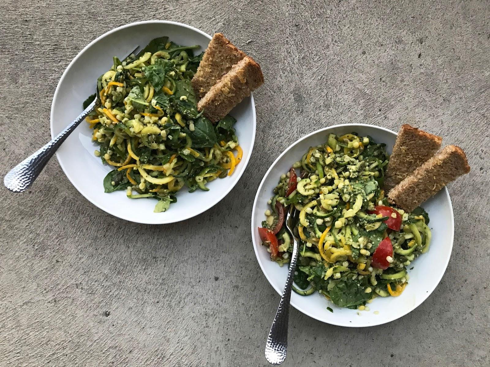 Zucchini noodle salad | Sevengrams