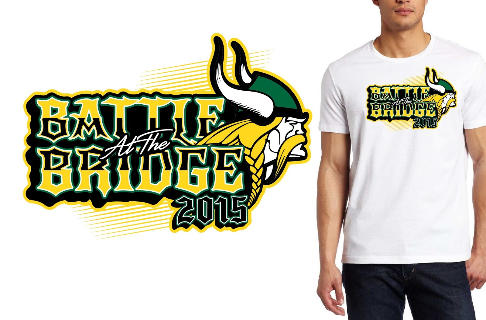 WRESTLING TSHIRT DESIGN FOR 2015 Battle of the Bridge BY URARTSTUDIO