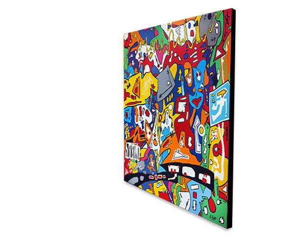 contemporary, art, graffiti, abstract, painting, modern abstract, large art, Sam Freek,