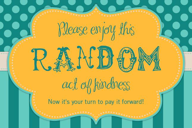 tonya dusold: 30 Random Acts of Kindness