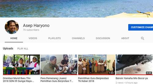 Channel Youtube saya yang masih newbie. Baru 70 Subscriber. Hahaha. Masih ijo royo royo. Maklum masih belajar jadi Yioutuber
