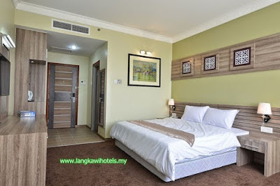 bilik hotel hj ismail group langkawi, hotel HiG langkawi, deluxe room HiG hotel, hotel muslim selesa dan bersih, hotel murah di langkawi