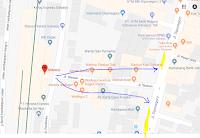 Peta lokasi Titik Jemput Penumpang Ojek Online Gojek-Grab di Stasiun Sidoarjo
