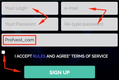 Регистрация в Bitsmaker 2