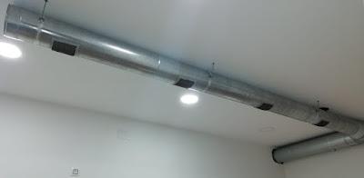 foto tubos renovación de aire Madrid