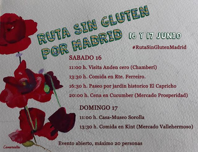 CARTEL RUTA SIN GLUTEN MADRID