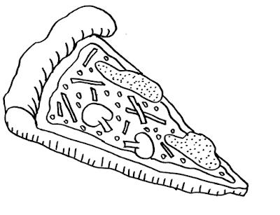 Gambar Mewarnai Pizza - 6