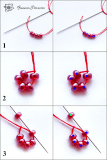 Part 1 DIY Tutorial How to create a blackberry or raspberry necklace and pattern