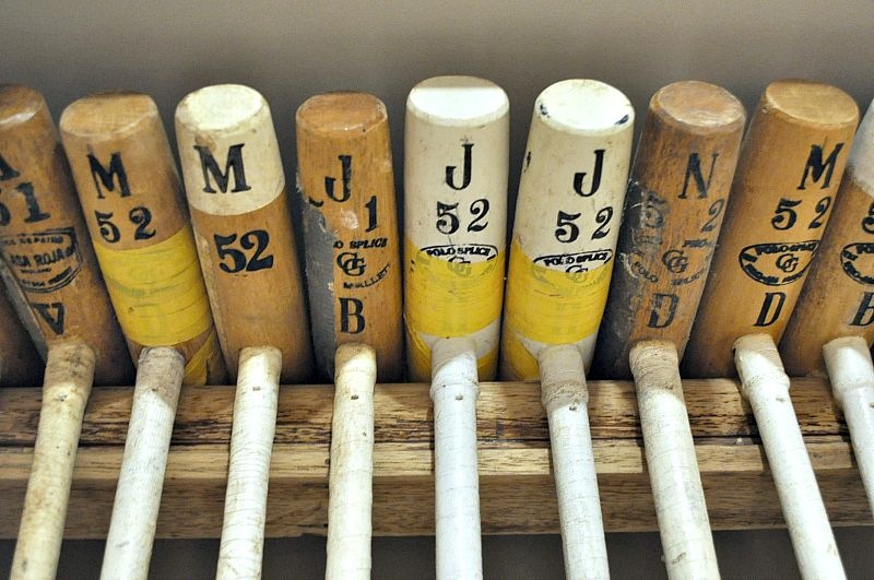 vintage polo mallets