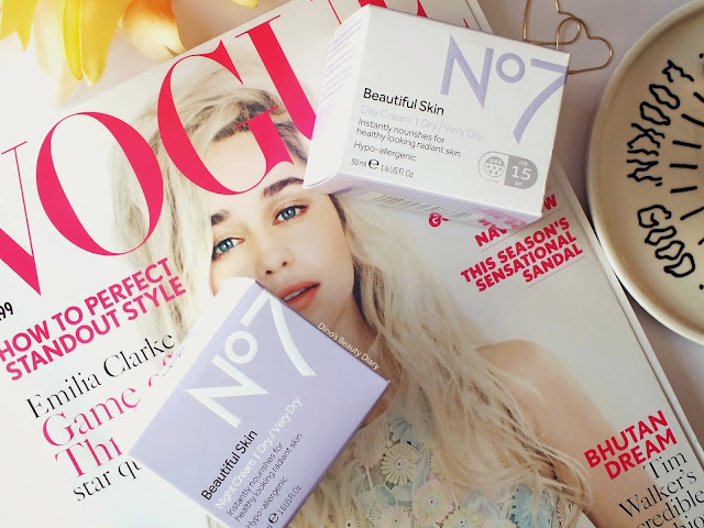 Dino's Beauty Diary - Skincare Review - No7 'Beautiful Skin' Day and Night Creams for Dry/Very Dry Skin