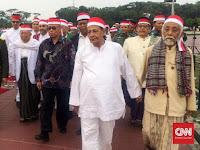 KH Ma'ruf Amin, Abuya Mutadi dan Habib Lutfi Datang di Doa TNI 17 17 17
