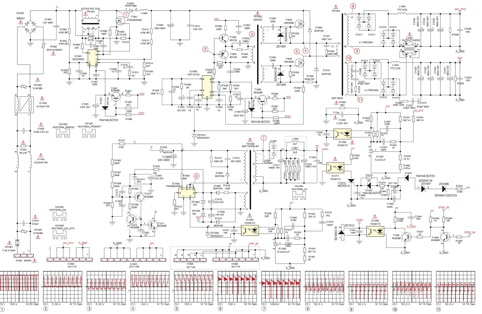 Grundig Lcd Tv Smps Schematics Circuit Diagrams Homenol Dryer Schematic Wiring Diagram Fuse Screw Power Supply Board Zz7194 11 Mc33262d Ncp1212d Fsdm0265rn Fod817copto