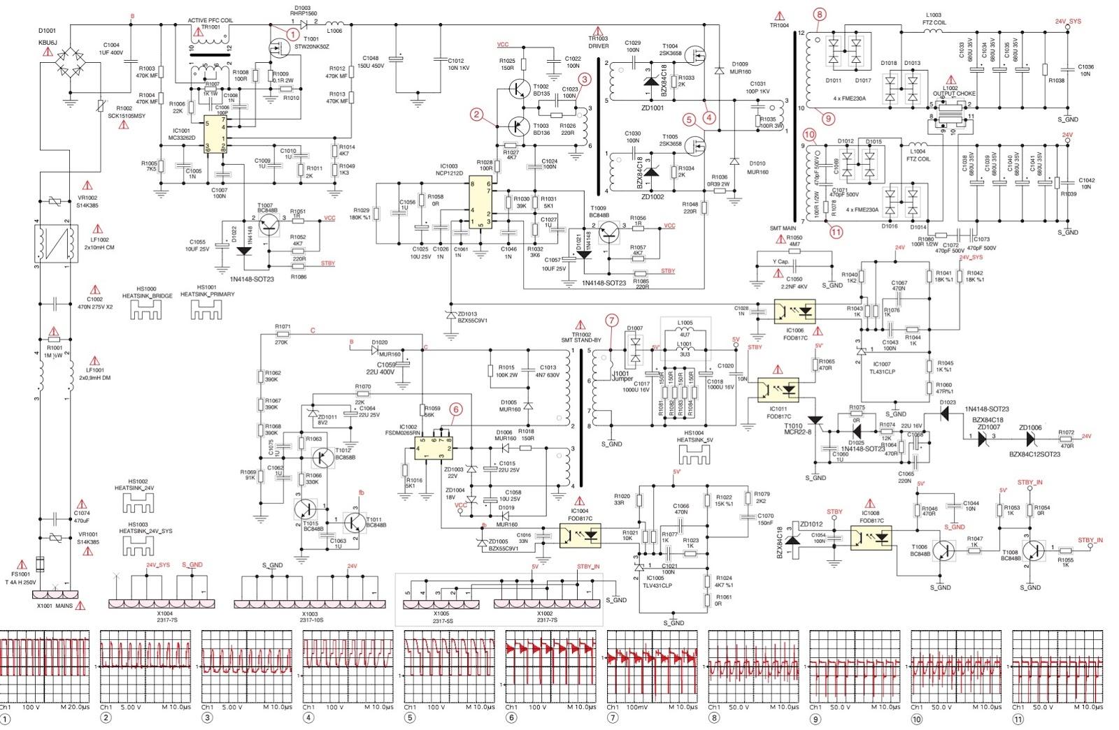 medium resolution of power supply board zz7194 11 mc33262d ncp1212d fsdm0265rn fod817c opto