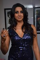 Sanjana looks happy in sparkling short Deep neck Purple Gown ~  Exclusive 41.JPG