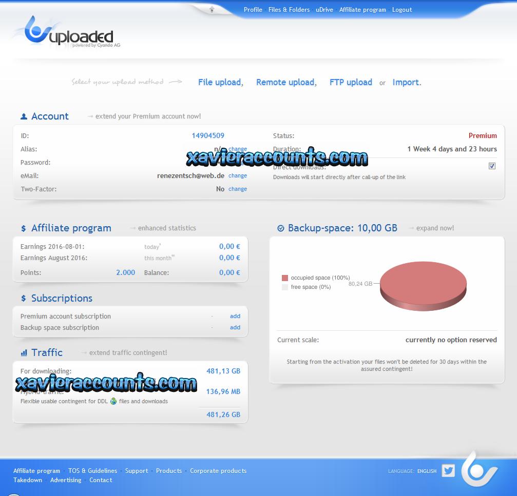 Depfile premium account password - Depfile Premium