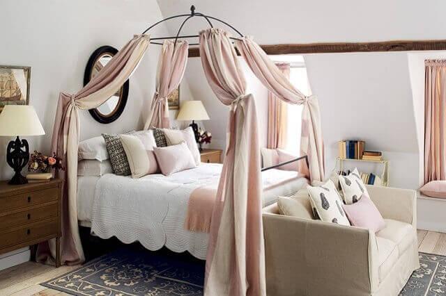 Romantik yatak odası dekorasyon örnekleri 2