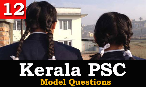 Kerala PSC - Model Questions English - 12