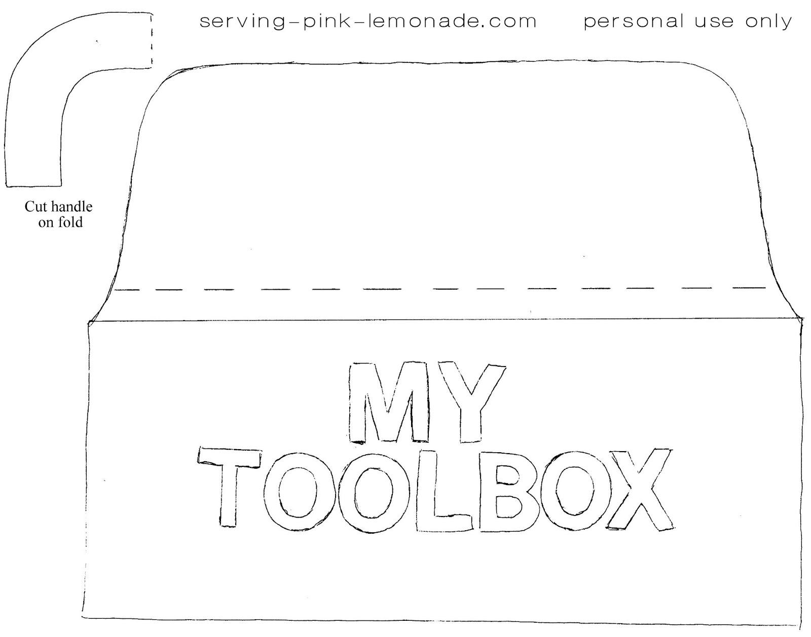 Serving Pink Lemonade Felt Toolbox
