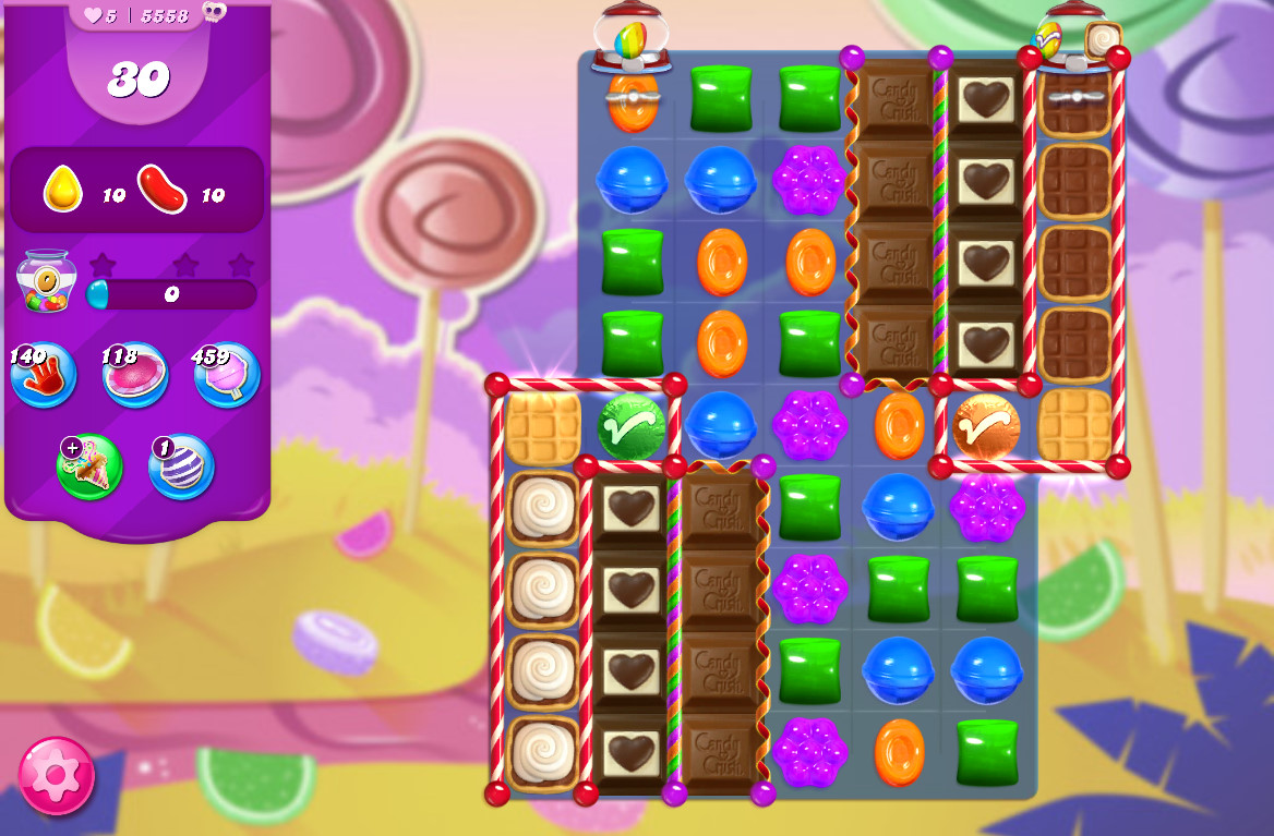Candy Crush Saga level 5558