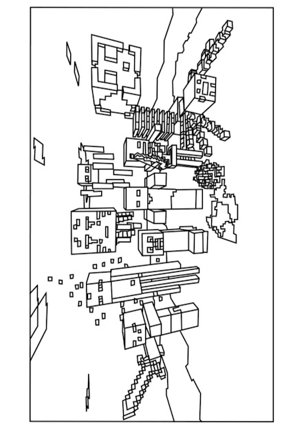 Minecraft Mobs Coloring Page