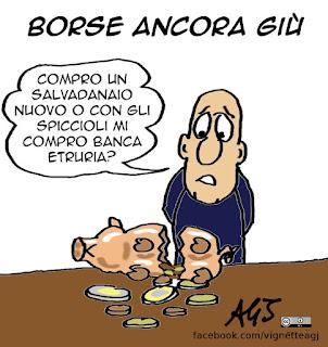 Sanremo, economia, titanic, banche, vignetta satira