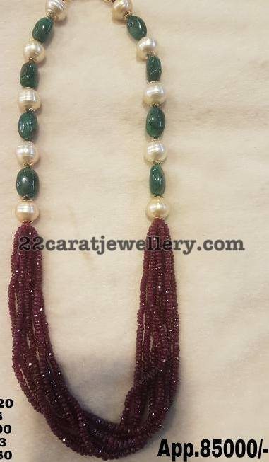 Ruby Beads Set 85000 INR