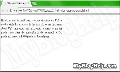 CSS-min-width-property-example