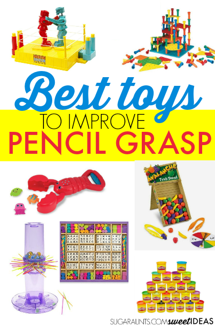 Toys that will help improve pencil grasp