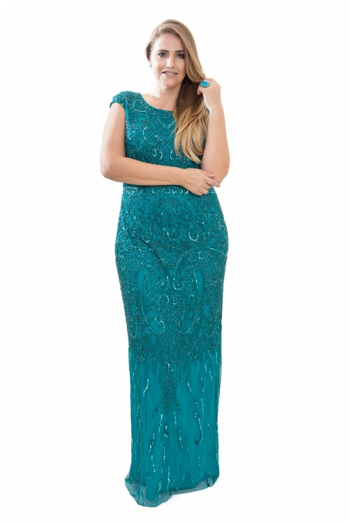 vestido de festa verde mãe da noiva