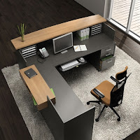 Global Zira Two Tone Reception Desk
