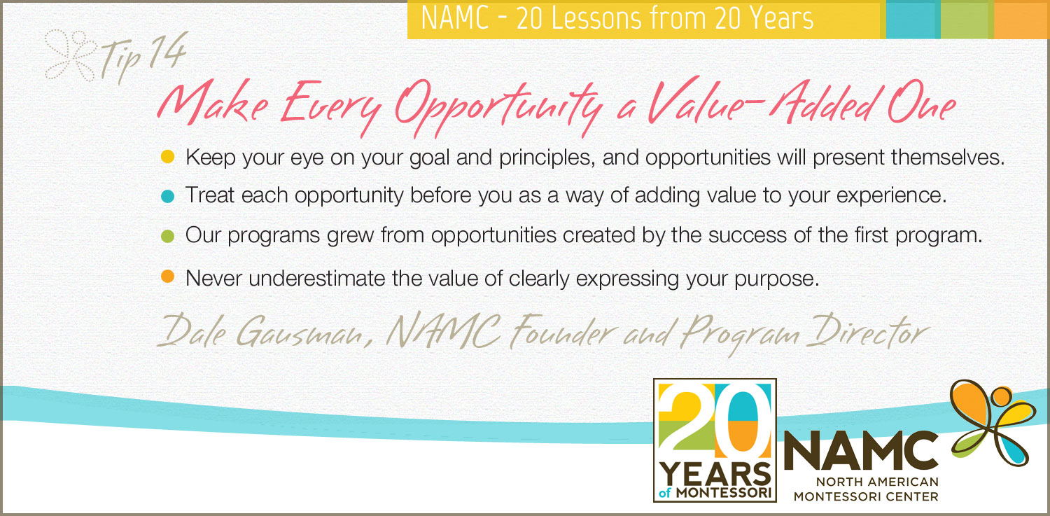 namc 20 lessons 20 years make every opportunity a value added one
