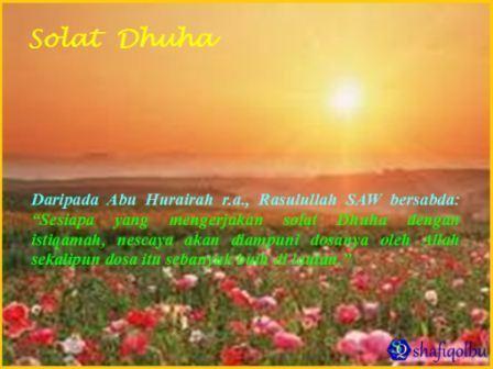 CARA MENGERJAKAN SOLAT SUNAT DHUHA