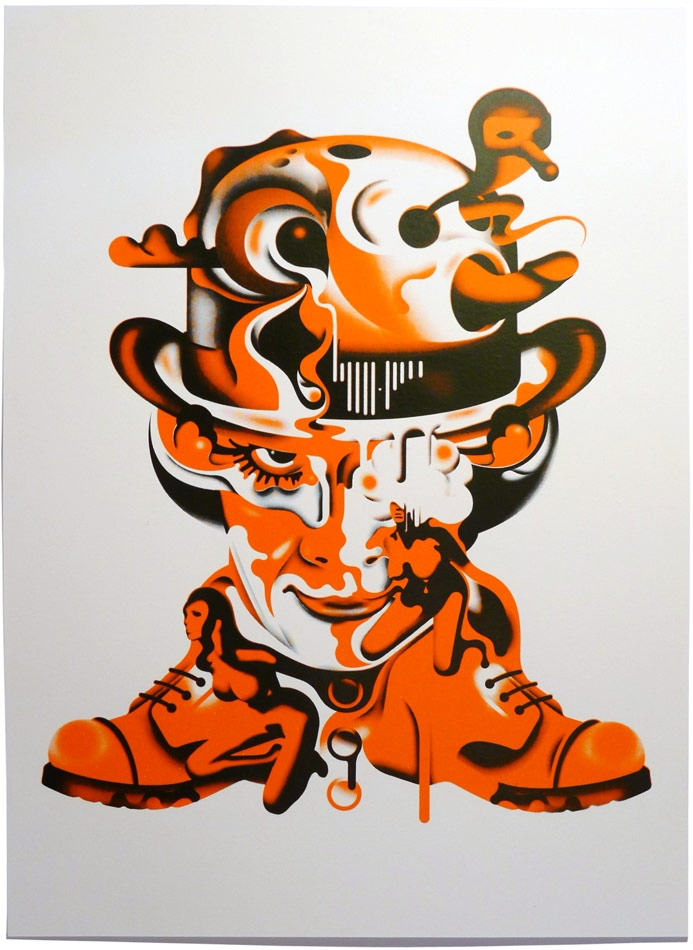 SINISTER DELICIOUS: Clockwork Orange Art.... by Shaun ... A Clockwork Orange Painting