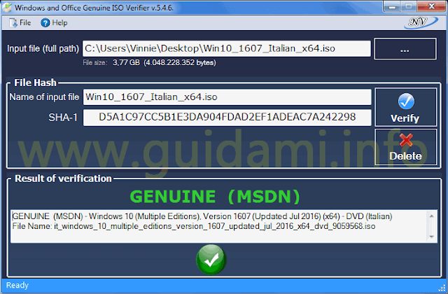 Windows and Office Genuine ISO Verifier