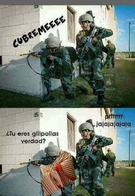 Ejército, soldados, cúbreme